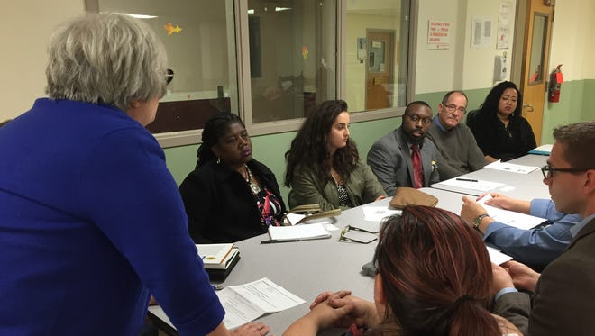 The public weighs in on the Rochester-Monroe Anti-Poverty Initiative at a town hall meeting Thursday.