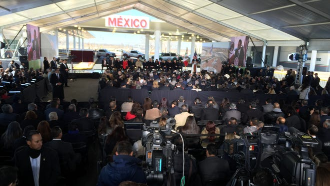 Mexican President Enrique Peña Nieto on Thursday joined high-ranking U.S. officials to inaugurate the much-awaited Tornillo-Guadalupe Port of Entry and International Bridge.