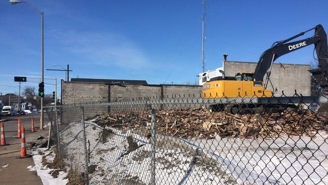 The City of Oshkosh on Tuesday demolished two long-vacant buildings on Oshkosh Avenue