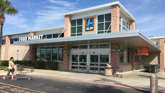 Aldi in Titusville, my Sunday grocery shopping stomping grounds.