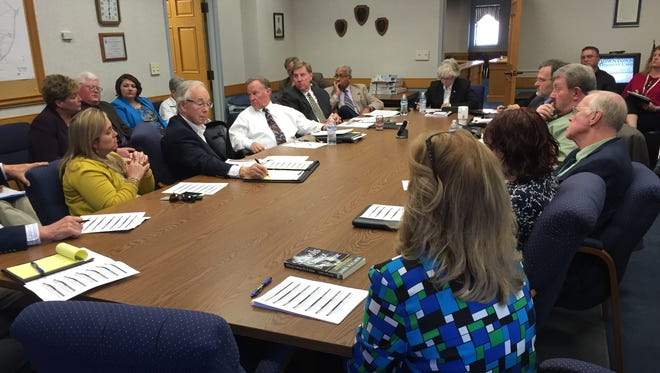 The Staunton School Board and City Council met Thursday night to discuss the budget and the possibility of building a new high school
