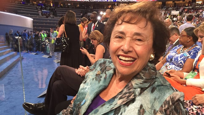 Rep. Nita Lowey, D-Harrison, had a front row seat with the New York delegation at the Democratic National Convention in Philadelphia on Tuesday, July 26, 2016.