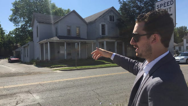 Stephen Toyra talks about plans to raze three houses in the 200 block of South Fourth Street to make way for 12 townhouses. The project is one of several Gold Sail Capital is planning along South Fourth Street, just south of downtown Lafayette.
