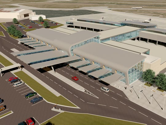 """A rendering shows one of designs, titled """"Winged Spirit,"""" for the new terminal at the Lafayette Regional Airport. Two of three designs were accepted at the Lafayette Airport Commission meeting Thursday."""
