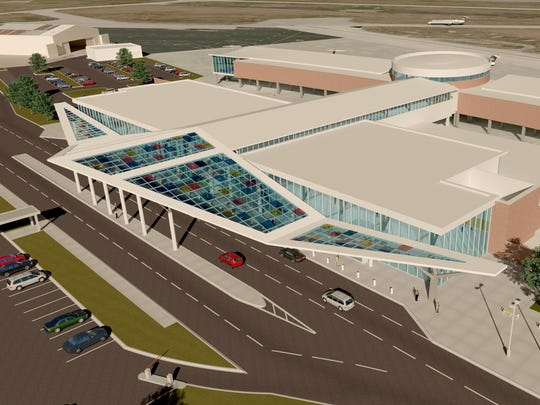 "A rendering shows one of designs, titled ""Journey,"" for the new terminal at the Lafayette Regional Airport. Two of three designs were accepted at the Lafayette Airport Commission meeting Thursday."
