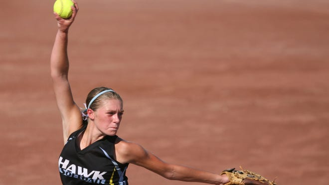 Madison Rasmusson of Lynnville-Sully, shown here in last year's state tournament. has been a member of three state tournament squads.