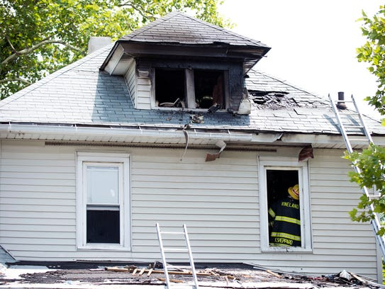 Vineland fire department responds to a house fire at