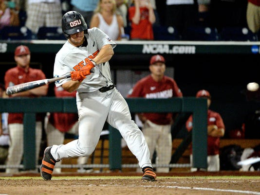 NCAA Baseball: College World Series-Arkansas vs Oregon State