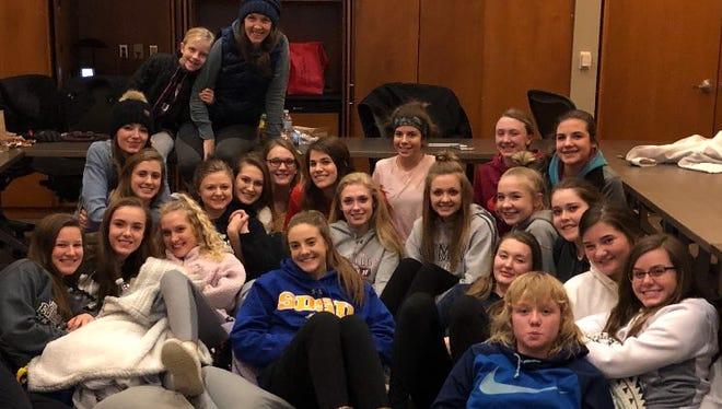 The Madison girls basketball team