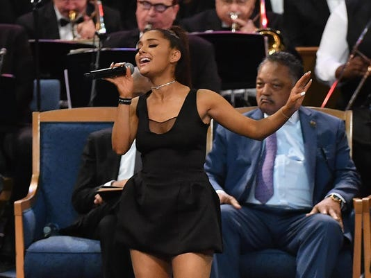 Ariana Grande Sings Aretha Franklin Song In Tiny Dress