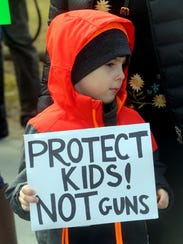 Holden Reilly, 6, of Tarrytown and his mother were
