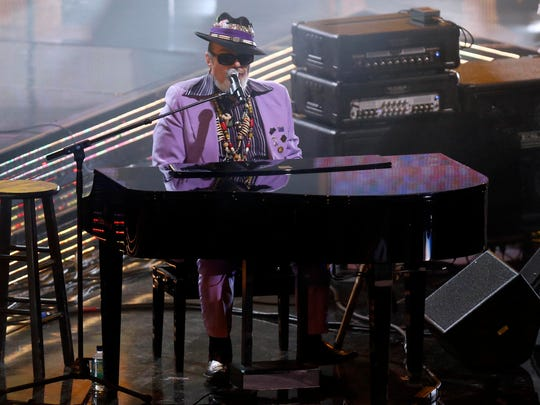 Dr. John performs during halftime of the 2014 NBA All-Star Game at the Smoothie King Center in New Orleans.