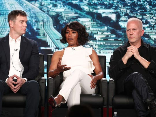 Actors Peter Krause, left, Angela Bassett and show