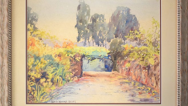 This untitled watercolor by Marion Kavanagh-Wachtel is but one of the works that will be available April 7 at Santa Paula Museum of Art's eighth annual Fine and Decorative Art Auction.