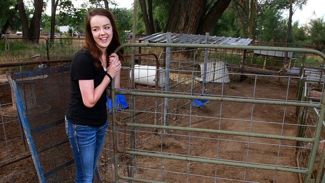 Sherri Halsted has been showing animals for the last 10 years and plans to show three pigs and three goats at the San Juan County Fair, which starts Monday.