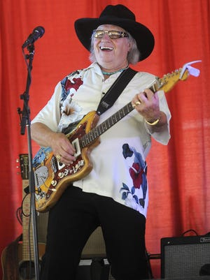 Sherwin Linton performs during the South Dakota State Fair in Huron. He has been a regular at the fair since the 1970s.