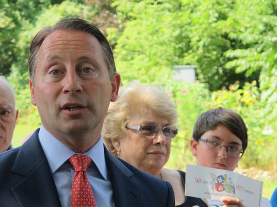 Westchester County Executive Rob Astorino, the Republican candidate for governor, answers a question Sept. 2 at a news conference in Hawthorne.