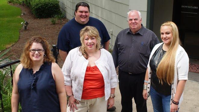 Autograph Media Group's members are Amy Keys, left, Deanna Mims, James Davis Jr., Jeff Ragan and Christina Llewellyn.