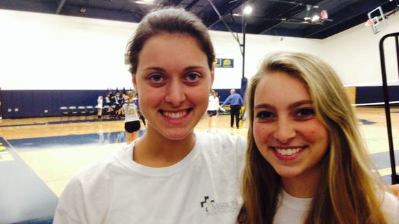 Asheville Christian Academy seniors Maribeth Harrington, left, and Taylor Robinson.