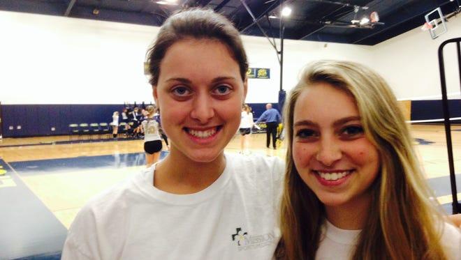 Asheville Christian Academy seniors Maribeth Harrington, left, and Taylor Robinson.