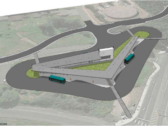 A concept design of a proposed transit center in Silverdale