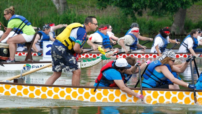 Dragon-boat paddlers hit the water this weekend for the Milwaukee Dragon Boat Festival at Lakeshore State Park.