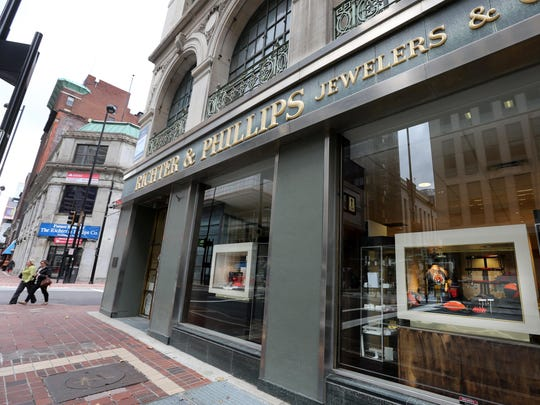 Richter & Phillips Jewelers Co. at 5th and Main streets has been in business since 1896. Rick Fehr and his brother Art are the co-owners. They will be moving across Main Street into a new location (with the blue sign).