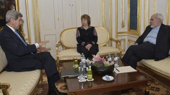 Secretary of State John Kerry (L), European Union High