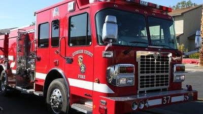 A Riverside County Fire Department truck.