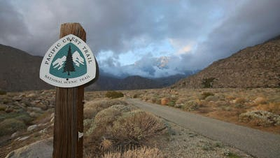 This Desert Sun file photo shows the Pacific Crest Trail near Snow Creek Road. Crews are in the area Thursday, where an injured hiker is being rescued.