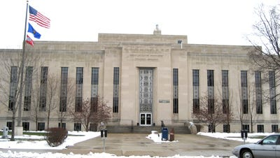 Outagamie County Courthouse on Walnut Street in Appleton, Wisconsin.