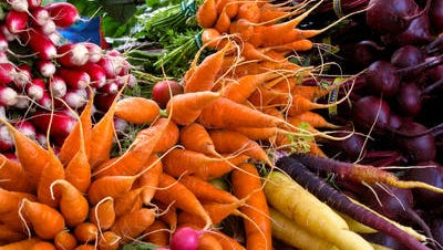 Plant row vegetables every two weeks for continuous harvests.