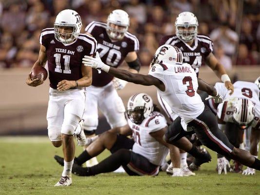 NCAA Football: South Carolina at Texas A&M