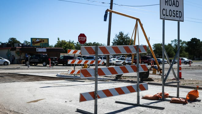 Martin Luther King Drive at the intersection of 23rd Street is closed for construction Monday, Oct. 23.