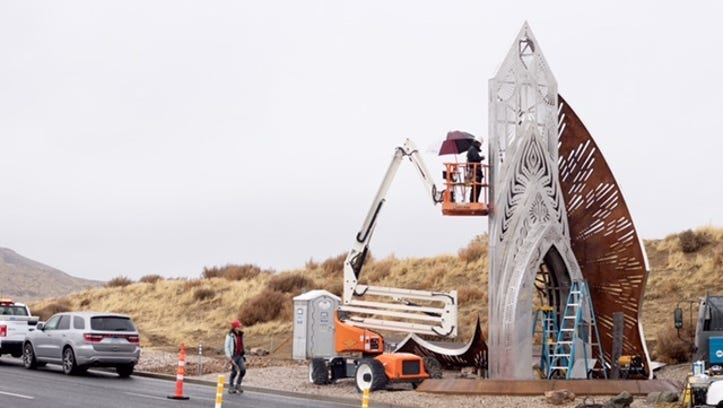 New Burning Man monument erected on USA Parkway