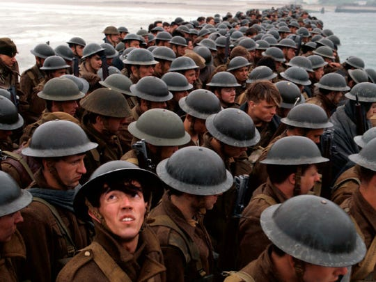 A scene from 'Dunkirk,'  the new film by Christopher Nolan.