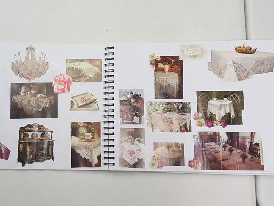 A vision book focuses on what a new home and its contents