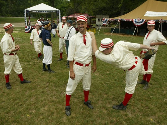 Twelve teams are competing in this weekend's World Tournament of Historic Base Ball.