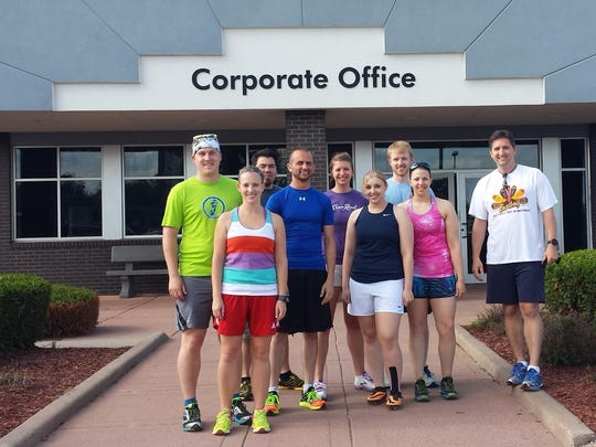 In this Daily Herald Media file photo, National Running Day participants John Hocker, from left, Natalie Weger, Rob German, Korey Guden, Sara Rebers, Amanda Anderson, Adam Neve, Julia Zander and Jerry Rhoden, members of Eastbay's Run Club, participated June 4, 2014 in National Running Day.