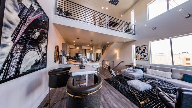 Inside photos of the Tonopah Lofts town houses in Midtown.