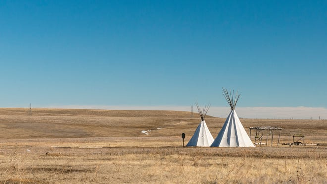 The Plains Conservation Center has several tipis on site to demonstrate the lifestyle of Native Americans on the plains near Aurora, Colorado