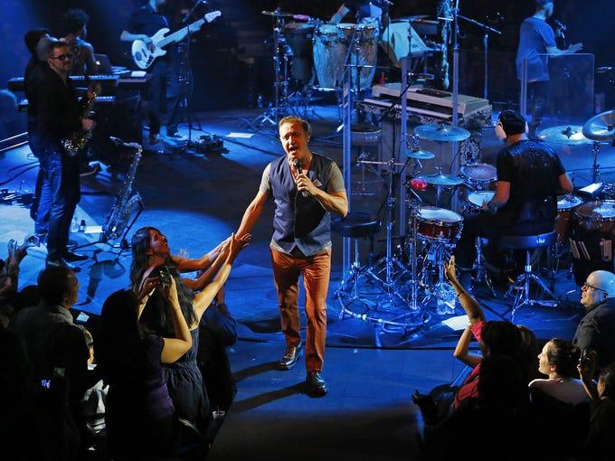 Latin-music star Franco de Vita performs at the Celebrity