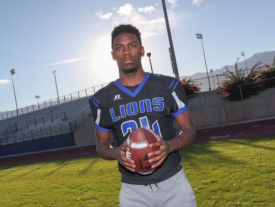 Cathedral City senior James Green is a member of the 2017 First Team All-Desert Sun football team.