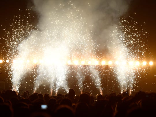 Kanye West performs at the Billboard Music Awards at