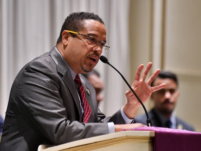 Rep. Keith Ellison speaks at Church of the New Covenant