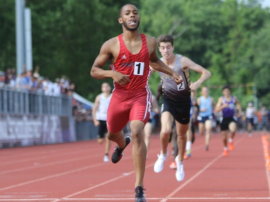 Luis Peralta, of Passaic, came in first in the 800 with a time of 1:49. Just behind him was Sean Dolan of Hopewell. Saturday, June 9, 2018