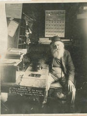 Uncle Ike in his post office in Notch.