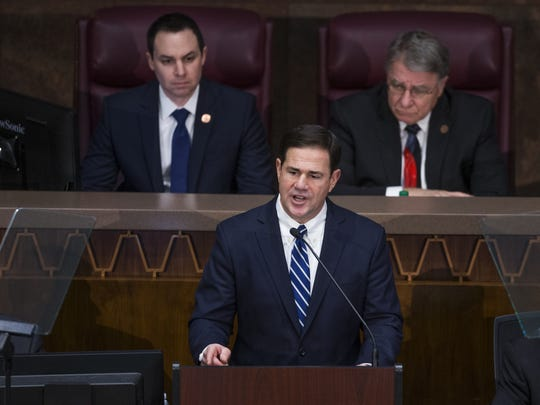 Gov. Doug Ducey called on the legislature to end licenses