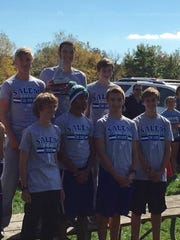 By finishing second at the Wayne County Championship, Salem's varsity boys cross country team won a medal. Pictured are: (front row, from left) Ryan Exell, Chaz Jeffress, Alex Kroll, Andrew Beyer; (back row, from left) Jacob Kubinski, Griffin Skaff and Luke Haran.