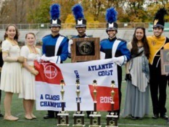 Award presentation at championship win.